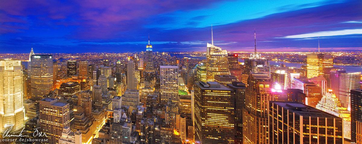 Magic skyline of New York 2 by Nightline
