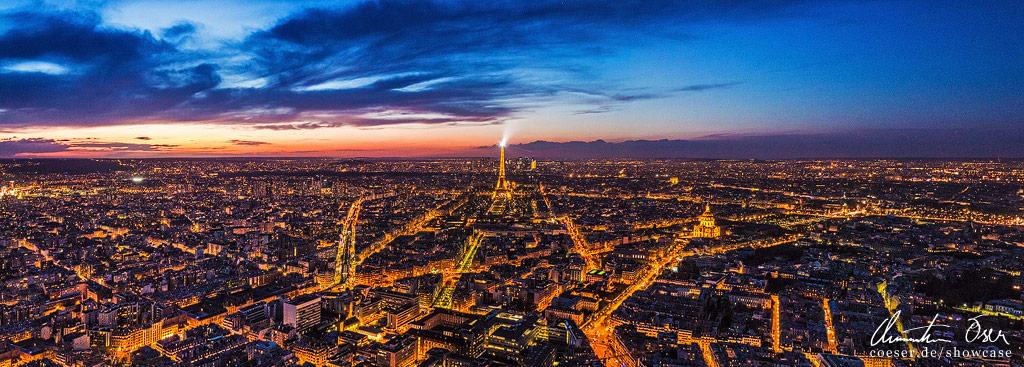 Paris Cityscape Panorama by Nightline