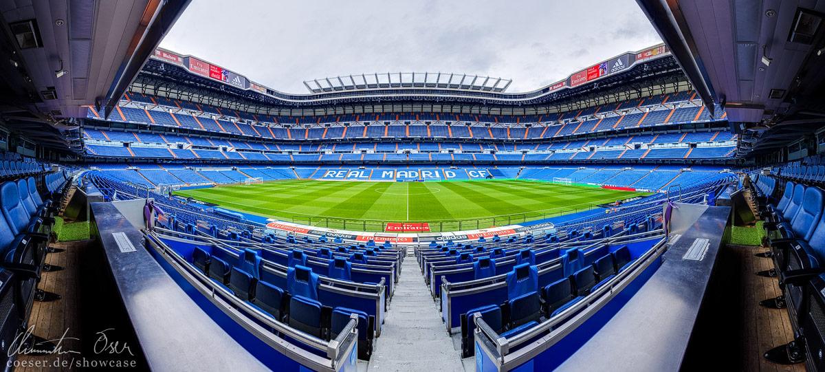 Estadio Santiago Bernabeu Panorama by Nightline