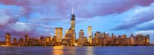 New York WTC Skyline Panorama by Nightline