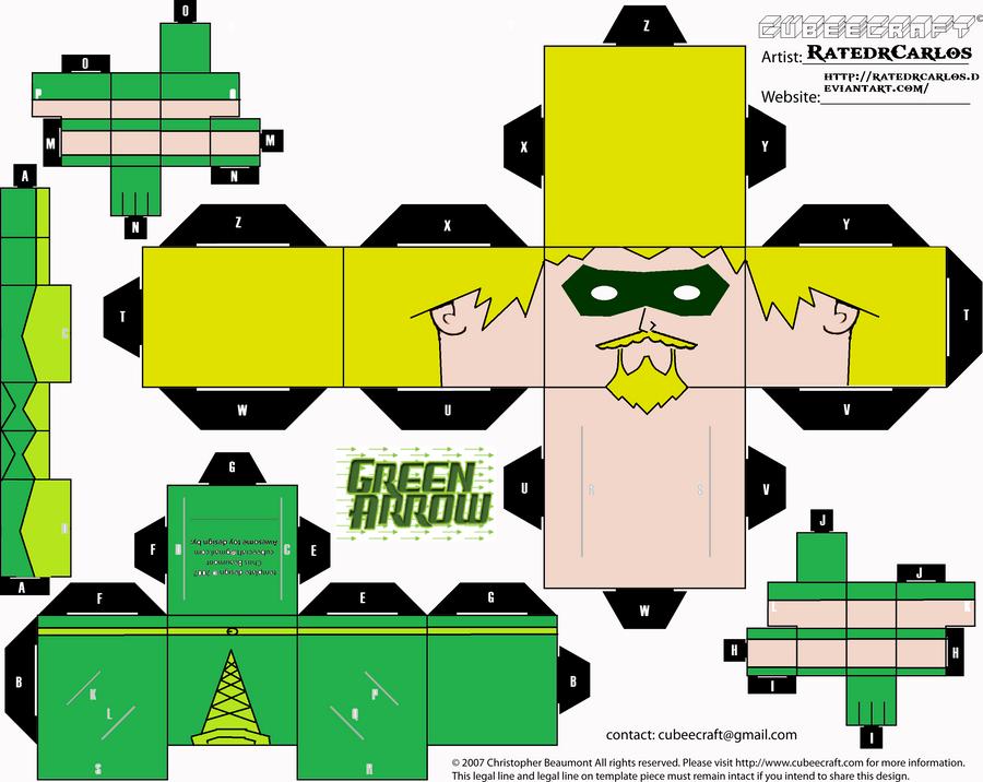 Green Arrow Cubeecraft by RatedrCarlos