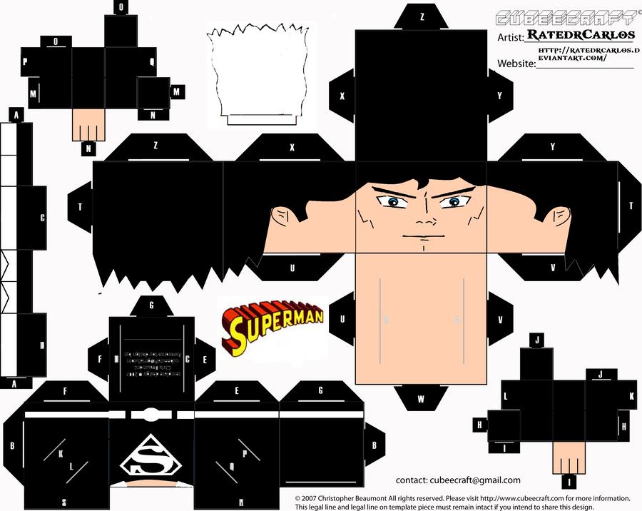Cubeecraft Superman Black Suit by RatedrCarlos