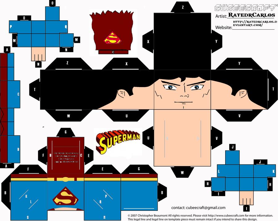 Cubeecraft Classic Superman by RatedrCarlos