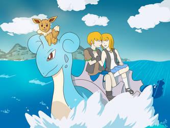 Commission: Pokemon OC on Lapras by Phatom12