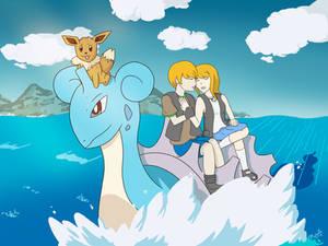 Commission: Pokemon OC on Lapras