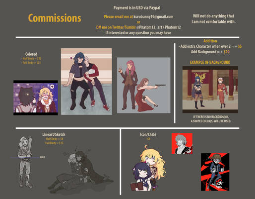 Commissions OPENED