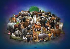 Interlocking Animals