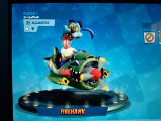 I Got The Firehawk Kart In CTR