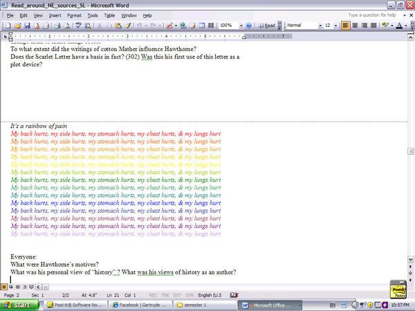 Class Notes Screenshot lolz by zill507
