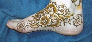 Henna Foot Flower - paste