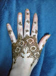 Flower Henna Half Glove Paste