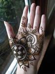 Henna Sunflower Hand