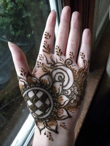 Sunflower Henna Tattoo: Henna Sunflower Hand By Flowerwills On DeviantArt