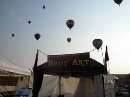 Tent at the NYS Balloon Fest