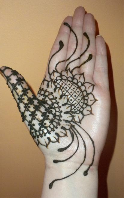 Sunflower Henna Tattoo: Sunflower Palm Henna By Flowerwills On DeviantArt