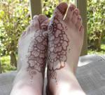 Henna Flower Feet - Stain