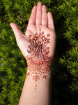 Henna Lotus Palm and Bracelet Stain