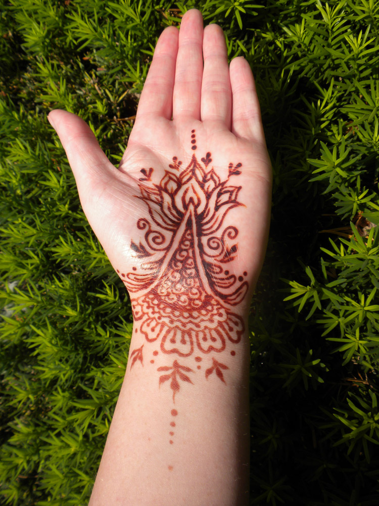 Henna Tattoo Designs Palm: Henna Lotus Palm And Bracelet Stain By Flowerwills On