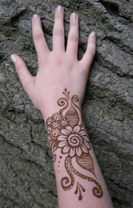 Henna Flower Tattoo Designs Wrist: Henna Swirl Flower On Wrist By Flowerwills On DeviantArt