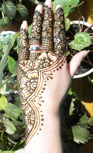 Henna flowered half lace hand by flowerwills on deviantart for Lace glove tattoo