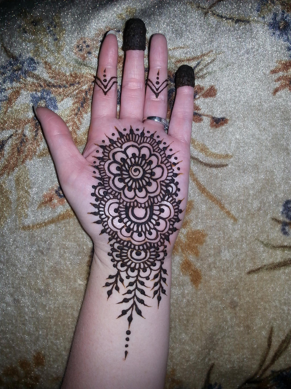 Mehndi Designs Palm : Henna palm mandala by flowerwills on deviantart