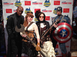 NY Comic Con With Captain America and Nick Fury