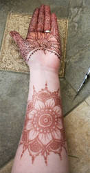 Henna Floral Lace Glove and Mandala Arm