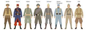 Uniforms of WW1 1914