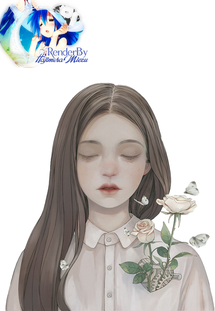 Render #10 -  Girl with flowers by Hajimeramiezu