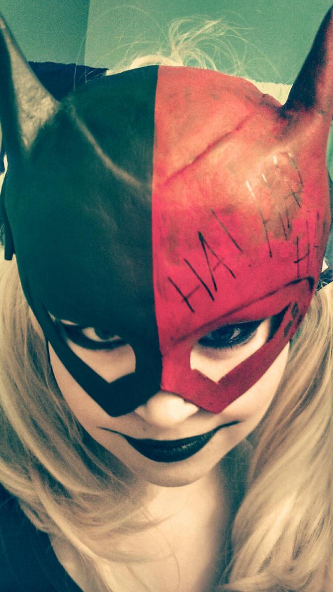 Stealing Batgirl's Costume? Naughty Harley! by SmileyVamp