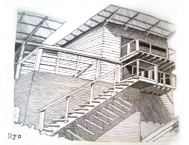 Sketch modern house by ashitakaryo on deviantart Drawing modern houses