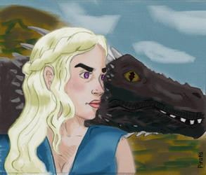 - Daenerys Targaryen - by Pirata-kun
