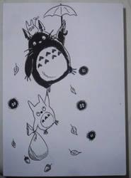 Inktober X Studio Ghibli Day 4/31 by Pirata-kun