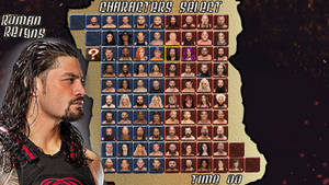 WWE CLASH OF SUPERSTARS Character Selection