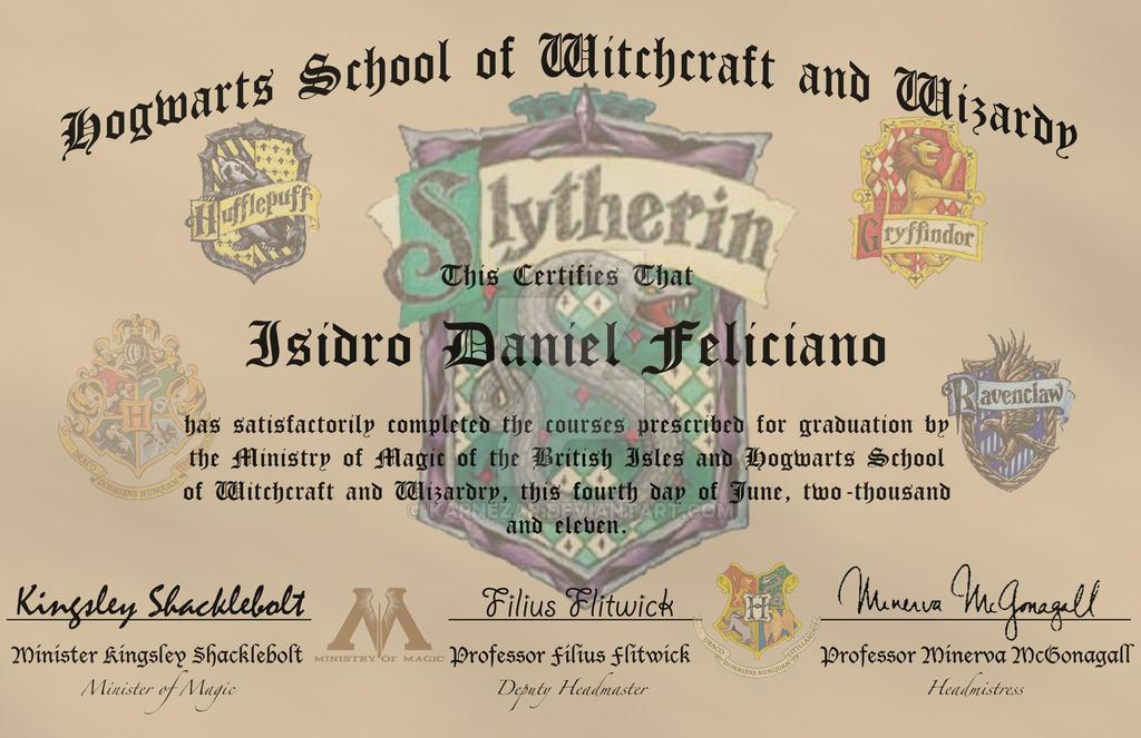 Hogwarts diploma by karnezar on deviantart for Hogwarts diploma