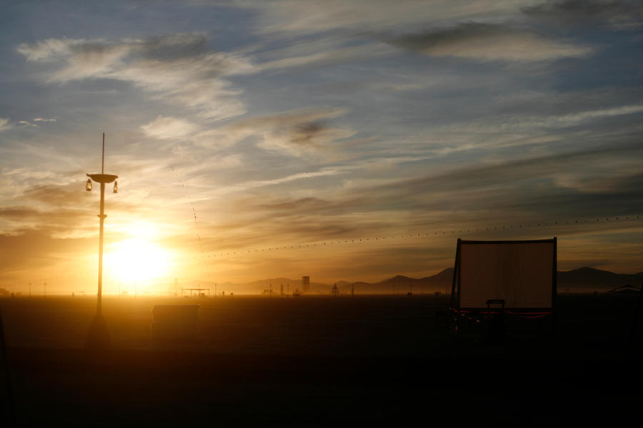 Burning Man Sunrise by NotPyrolysis