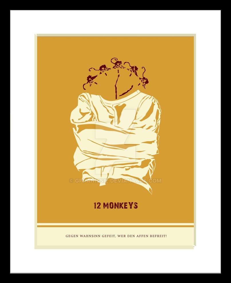 12 Monkeys Illustrated Movie Poster By GPPanissie