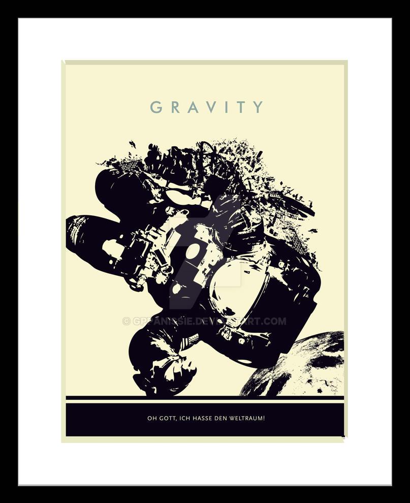 Gravity Illustrated Movie Poster By GPPanissie