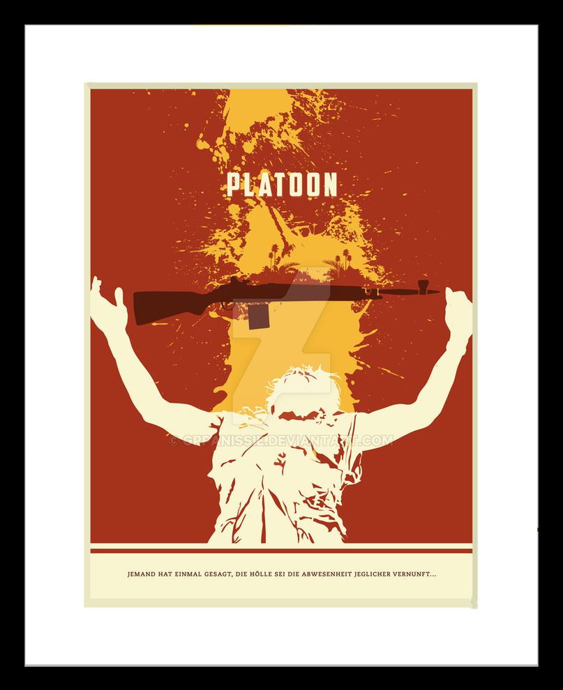 Platoon Illustrated Movie Poster By GPPanissie