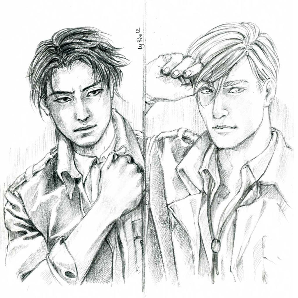 Levi and Erwin by Ren1209