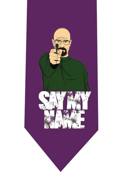 Say My Name Violet Tie by CoolTies
