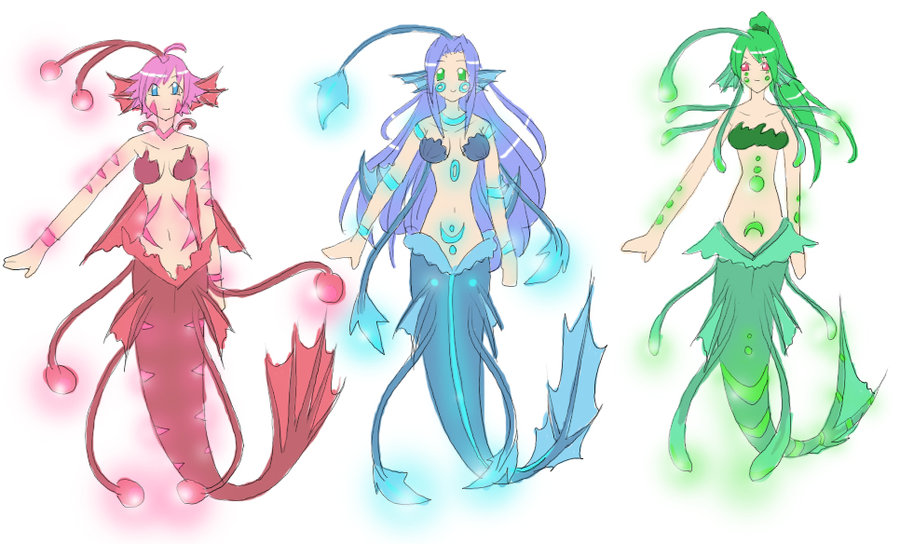 Deep Sea Mermaid Designs By Autumnology On Deviantart