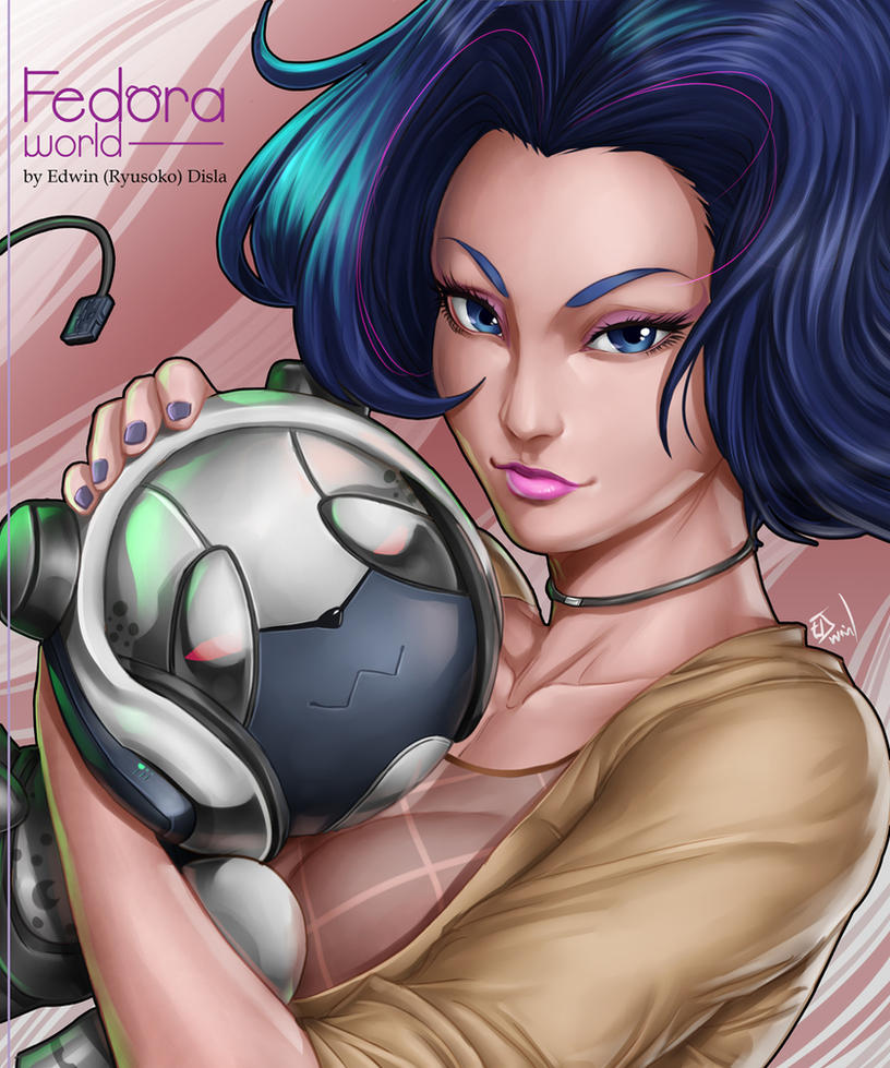 Fedora and Panda by Ryusoko
