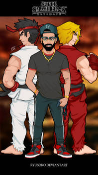 Cesar x Ryu and Ken Smash - Commissions