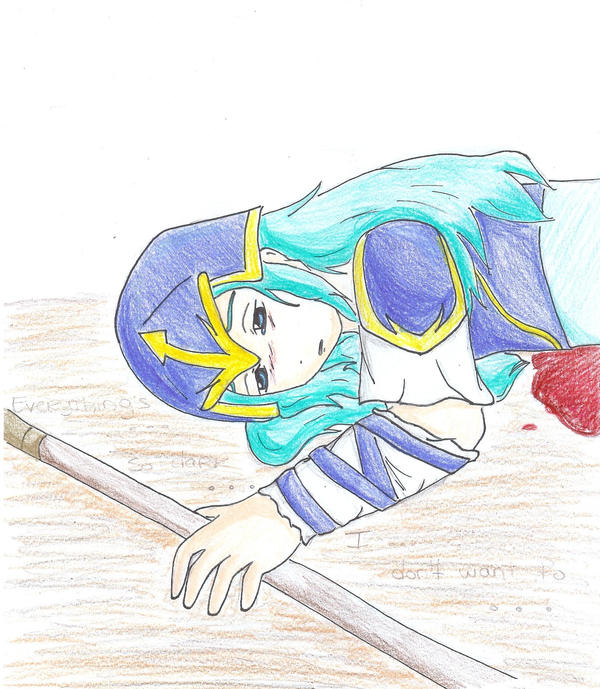 Nephenee's death coloured by CursedDevil