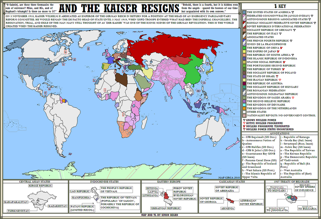 And The Kaiser Resigns Alternate History Map By SRegan On DeviantArt - Alternate history us map