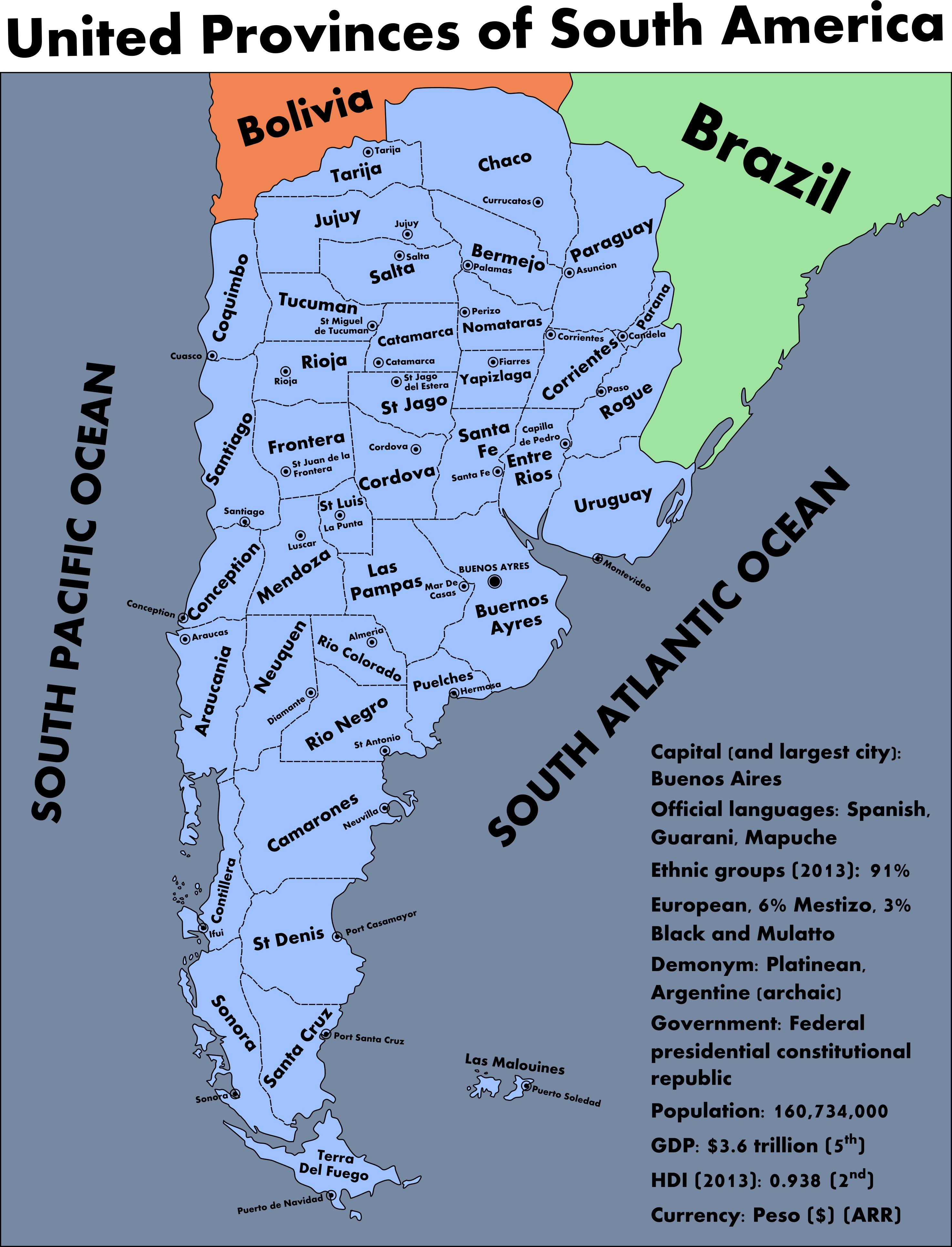 Greater Argentina An Alternate History Map By SRegan On DeviantArt - Argentina map capital