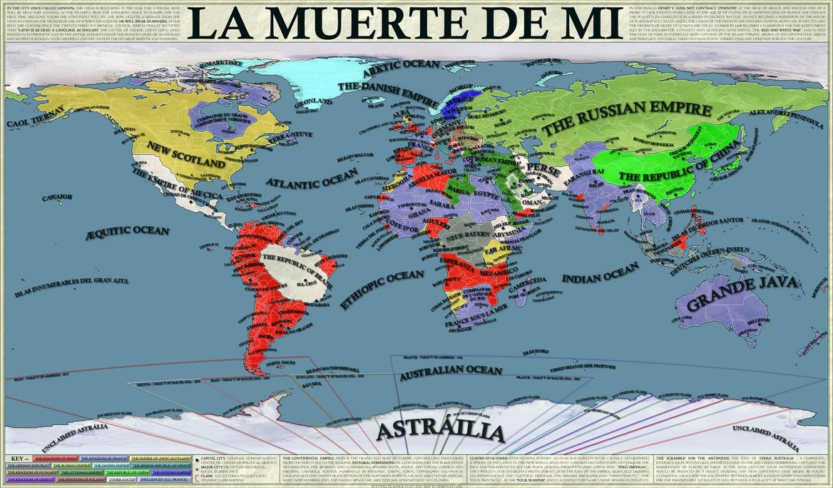 La Muerte De Mi - an alternate history map by SRegan on DeviantArt