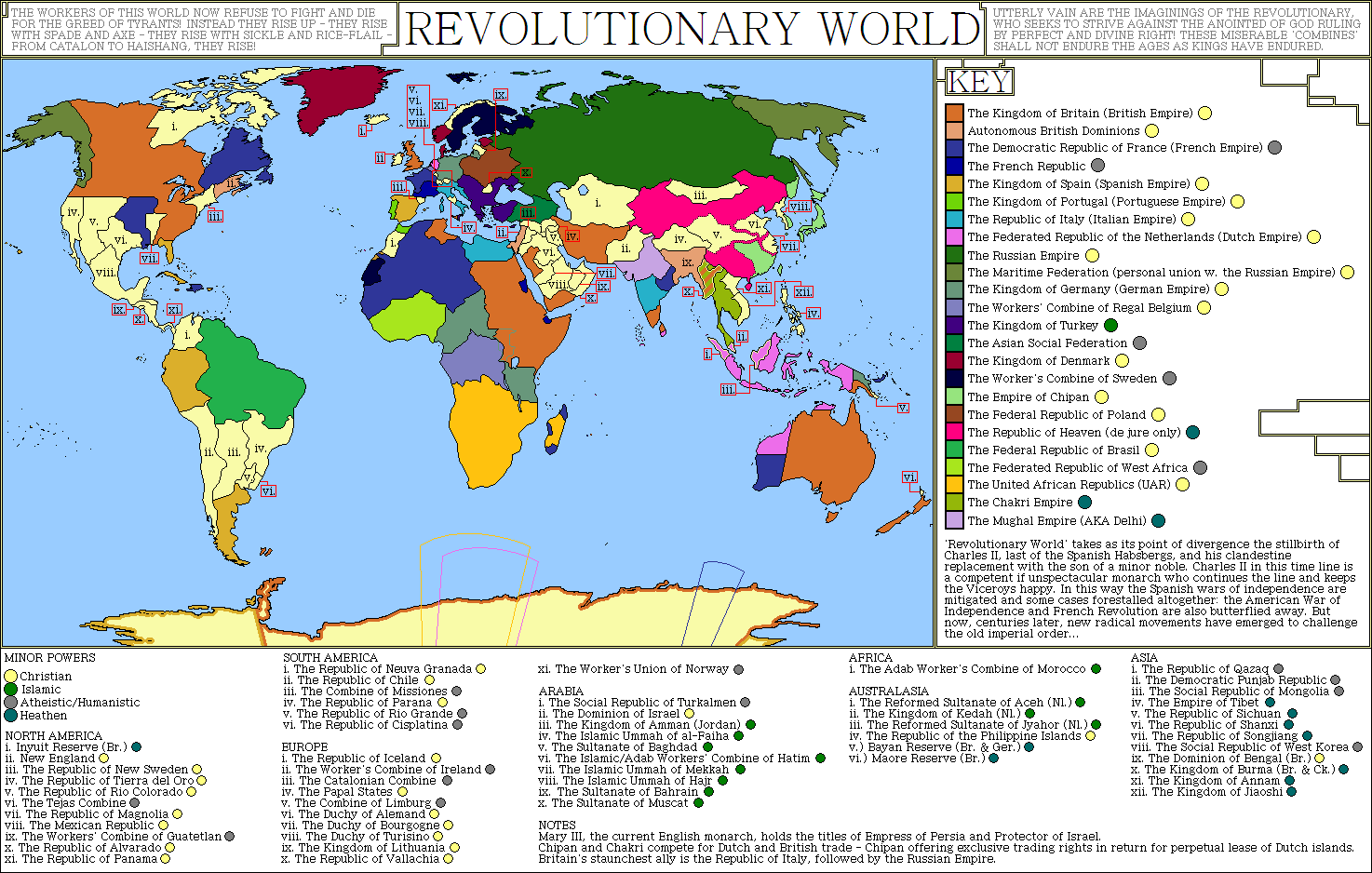 Revolutionary World an alternate history map by SRegan on DeviantArt