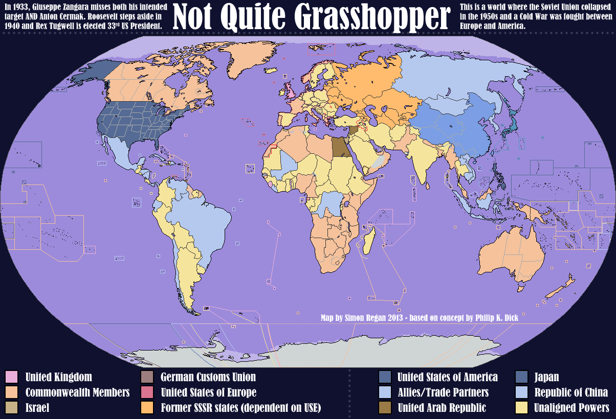 Not Quite Grasshopper An Alternate History Map By SRegan On - Alternate history us map